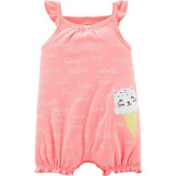 Carters Baby Girls Ice Cream Cat Romper