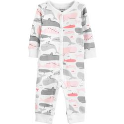 Carters Baby Girls Whale Jumpsuit