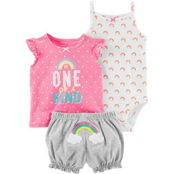 Carters Baby Girls 3-pc. One Of A Kind Layette Set