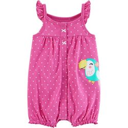 Carters Baby Girls Toucan Dots Snap-Up Romper