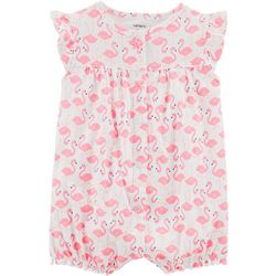 Carters Baby Girls Flamingo Snap-Up Romper