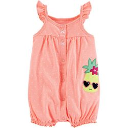 Carters Baby Girls Cool Pineapple Snap-Up Romper