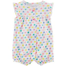 Carters Baby Girls Whale Heart Snap-Up Romper