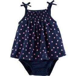 Carters Baby Girls Strawberry Tank Sunsuit