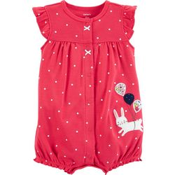 Carters Baby Girls Bunny Dot Romper