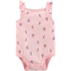 Carters Baby Girls Flamingo Flutter Bodysuit