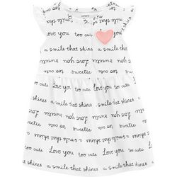 Carters Baby Girls Sweet Words Dress