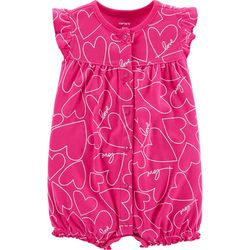 Carters Baby Girls Heart Ruffle Romper