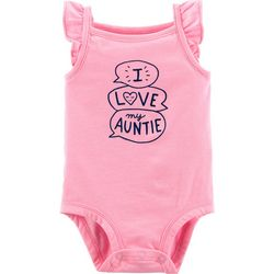 Carters Baby Girls I Love My Auntie Flutter Bodysuit