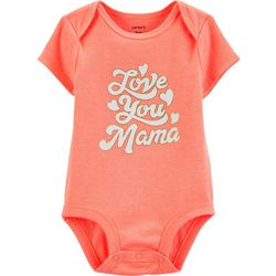 Carters Baby Girls Love You Mama Bodysuit