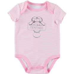 Chubby Mermaids Baby Girls Striped Manatee Bodysuit