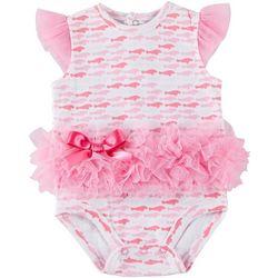 Chubby Mermaid Baby Girls Manatee Tutu Bodysuit
