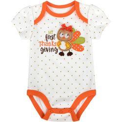Baby Essentials Baby Girls My First Thanksgiving Bodysuit