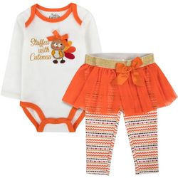Baby Essentials Baby Girls 2-pc. Stuffed With Cuteness Set