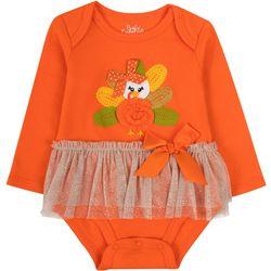 Baby Essentials Baby Girls Holiday Turkey Tutu Bodysuit