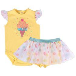 Baby Essentials Baby Girls Ice Cream Tutu Bodysuit Set