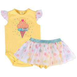 Baby Essentials Baby Girls Ice Cream Tutu Bodysuit Set