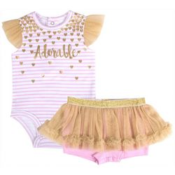 Baby Essentials Baby Girls Adorable Tutu Bodysuit Set