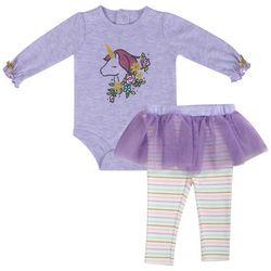 Baby Essentials Baby Girls Unicorn Tutu Bodysuit Set