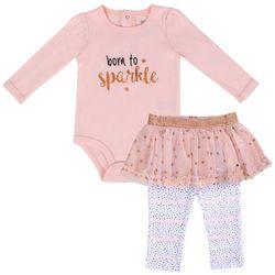 Baby Essentials Baby Girls Born To Sparkle Tutu Bodysuit Set
