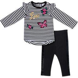 Baby Essentials Baby Girls Stripe Love Leggings Set