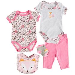 Weeplay Baby Girls 5-pc. Wild One Layette Set