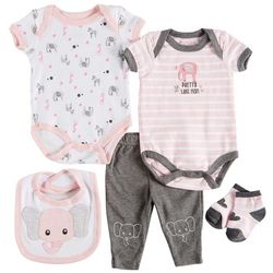 Weeplay Baby Girls 5-pc. Pretty Like Mom Layette Set