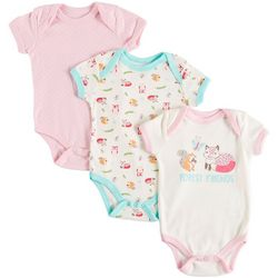 Weeplay Baby Girls 3-pk. Forest Friends Bodysuits