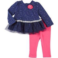 Weeplay Baby Girls Star Print Tutu Tunic Leggings Set