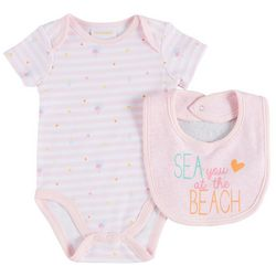 Sunshine Baby Baby Girls Sea You At The Beach 2-pc. Set