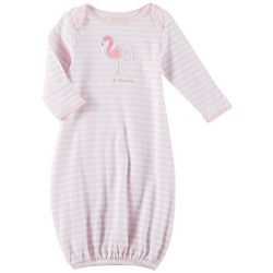 Sunshine Baby Baby Girls Striped Flamingo Gown