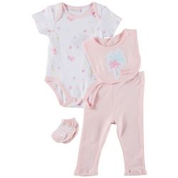 Sunshine Baby Baby Girls 4-pc. Beach Babe Bodysuit Set