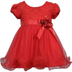 Bonnie Jean Baby Girls Lace Tulle Skirt Dress