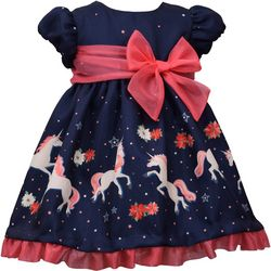 Bonnie Jean Baby Girls Unicorn Holiday Dress