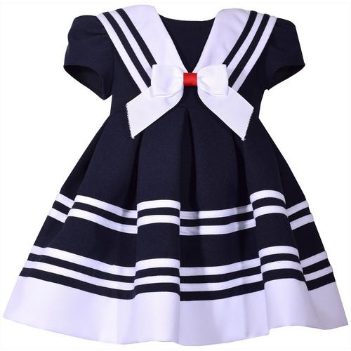 1cc2b0c2ce9a Bonnie Jean Baby Girls Stripe Print Nautical Dress