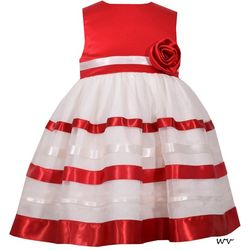 Bonnie Jean Baby Girls Christmas Ribbon Dress