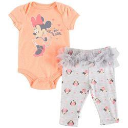 Disney Minnie Mouse Baby Girls Tutu Bodysuit Set