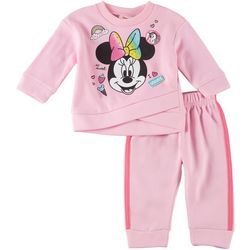 Disney Minnie Mouse Baby Girls Fleece So Sweet Pants Set