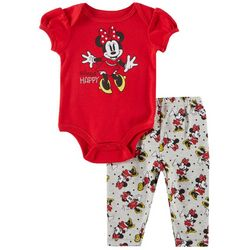 Disney Minnie Mouse Baby Girls Always Happy Leggings Set
