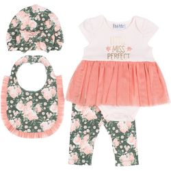 Nicole Miller New York Baby Girls 4-pc. Floral Tutu Set
