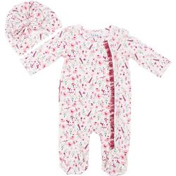 Nicole Miller New York Baby Girls 2-pc. Floral Sleeper Set