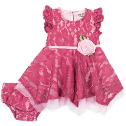 Little Lass Baby Girls Lace Tulle Dress