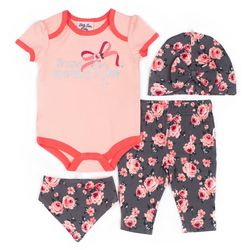 Little Lass Baby Girls 4-pc. Brand Sparkling New Layette Set