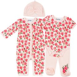Nicole Miller New York Baby Girls 4-pc. Coverall Set