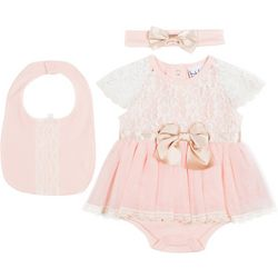 Nicole Miller New York Baby Girls 3-pc. Lace Skirt Set
