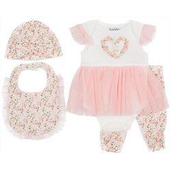 Nicole Miller New York Baby Girls 4-pc. Floral Legging Set