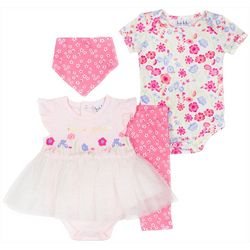 Nicole Miller New York Baby Girls 4-pc. Floral Layette Set