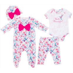 Nicole Miller New York Baby Girls 4-pc. Hello Beautiful Set