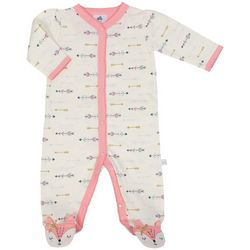 Just Born Baby Girls Arrow Print Sleep & Play