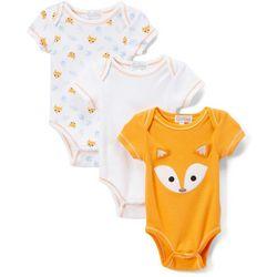 Quiltex Baby Girls 3-pk. Fox Bodysuits